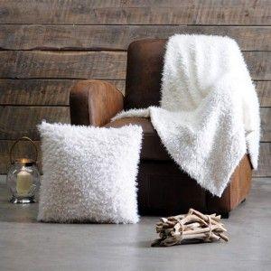 Plaid imitation fourrure Mouton Blanc