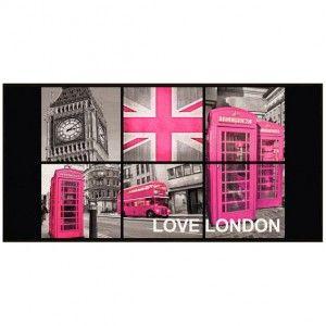 Tapis de cuisine XXL (115 cm) London Girl