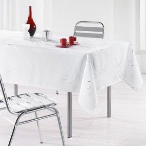 Nappe rectangulaire (L240 cm) Bully Blanc