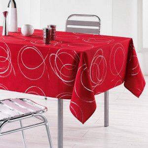 Nappe rectangulaire (L240 cm) Bully Rouge