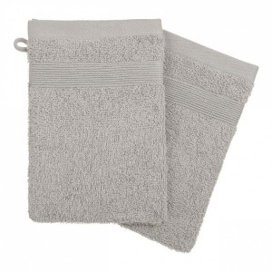 Lot de 2 gants de toilette Vita Taupe