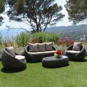 conjunto de sal n jard n capri sepia 7 plazas conjunto de jard n eminza. Black Bedroom Furniture Sets. Home Design Ideas