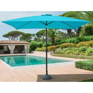 Parasol inclinable rectangulaire Fidji (L 3 x l 2 m) - Lagon