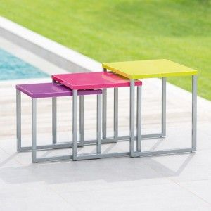 Lot de 3 tables d'appoint Gigogne Manaus Multicolore