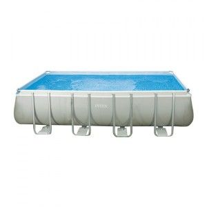 Piscine tubulaire rectangulaire Ultra Silver L4,57 x l2,74 x H1,22 m - Intex