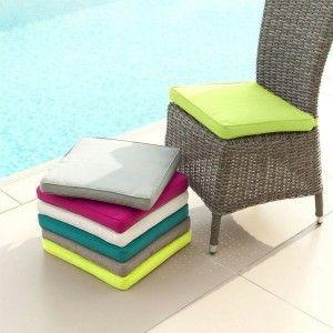 coussin de chaise garden duo menthe coussin et matelas pour mobilier eminza. Black Bedroom Furniture Sets. Home Design Ideas