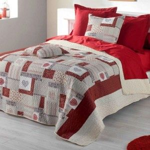 plaid polaire 150 cm montagne rouge plaid cocooning eminza. Black Bedroom Furniture Sets. Home Design Ideas