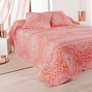 boutis et taies d 39 oreiller 230 x 250 cm gipsy multicouleur couvre lit boutis eminza. Black Bedroom Furniture Sets. Home Design Ideas