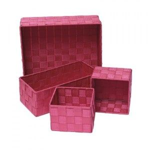 Lot de 4 paniers Color Fuchsia