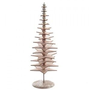 Sapin de table décoratif Pailleté H32 cm Naturel