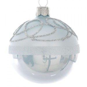 lot de 3 boules de no l d80 mm ours polaire blanc boule de no l eminza. Black Bedroom Furniture Sets. Home Design Ideas