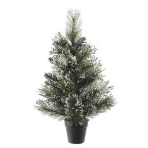 Sapin artificiel de table Finley H75 cm Vert enneigé