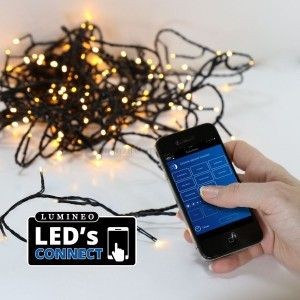 Guirlande lumineuse Bluetooth 13,50 m Blanc chaud 180 LED