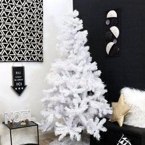 Sapin artificiel de Noël Royal H180 cm Blanc