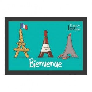 Tapis multi-usage (60 cm) Bienvenue Tour Eiffel