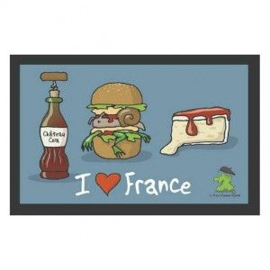 Tapis multi-usage (60 cm) I love France