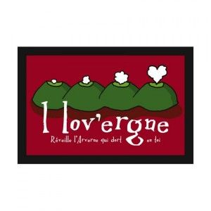 Tapis multi-usage (60 cm) I love Auvergne