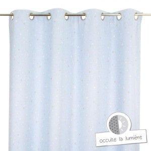rideau occultant 140 x h260 cm cocoon turquoise rideau occultant eminza. Black Bedroom Furniture Sets. Home Design Ideas