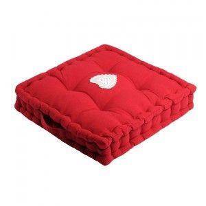 Coussin de sol Verone Rouge