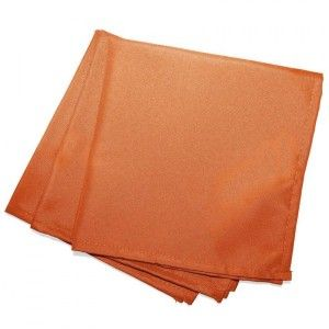 Lot de 3 serviettes Essentiel Brique