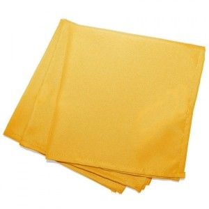 Lot de 3 serviettes Essentiel Jaune