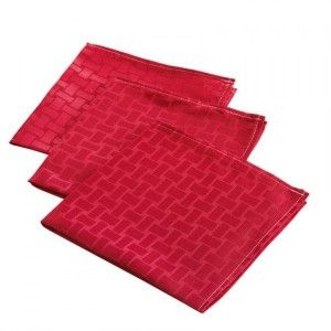 Lot de 3 serviettes Maillon Rouge