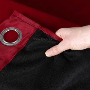 Rideau obscurcissant isolant (140 x H260 cm) Calore Rouge