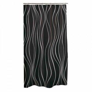 rideau de douche plastique pop art noir rideau de douche. Black Bedroom Furniture Sets. Home Design Ideas