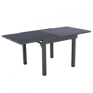 Table de jardin extensible Aluminium Piazza (180 x 90 cm) - Graphite