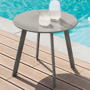 Table d'appoint ronde Saona (D50 cm) -Taupe