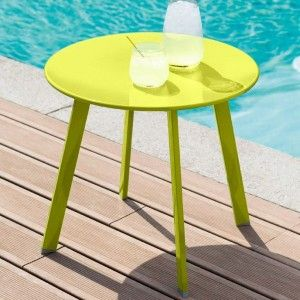 Table d'appoint ronde Saona (D50 cm)- Vert anis