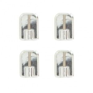 lot de 4 supports adhésifs Chrome
