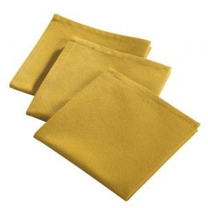 Lot de 3 serviettes de table Idéale Miel