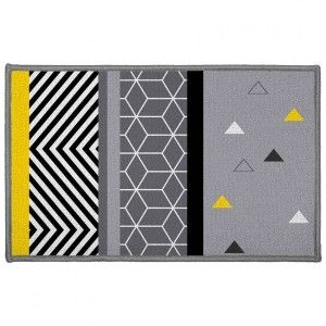 Tapis multi-usage (80 cm) Yellow Mix Gris
