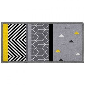 Alfombra multiusos  (115 cm) Yellow Mix Gris