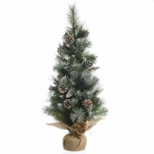 Sapin artificiel de table Sweden H90 cm Vert enneigé