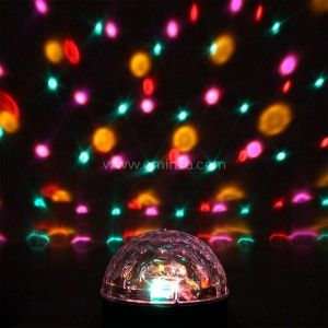 Pallina magica Disco Multicolore 6 LED