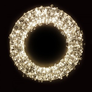 Corona di Natale luminosa Crystaline 320 LED Bianco caldo