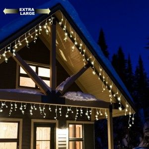 Stalattite luminosa 30 m Bianco caldo 700 LED CT