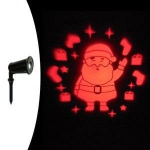 Laser projector vast Kerstman rood 1 LED