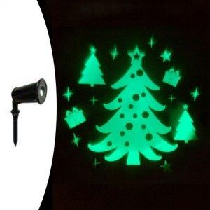 Projecteur laser fixe bonhomme de neige blanc 1 led projecteur lumineux pour fa ade eminza for Projecteur laser neige
