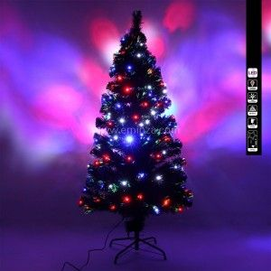 Sapin de Noël en fibre optique Johnson H120 cm
