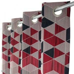 Rideau tamisant (135 x 250 cm) Arletty Rouge