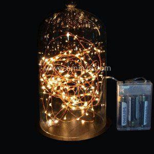 Guirlande lumineuse Micro LED 5 m Blanc chaud 100 LED CC