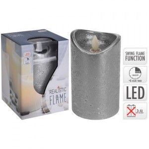 Bougie LED Flamme vacillante Gris