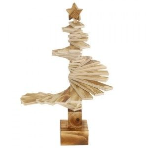 Sapin de table en bois Spirale H39 cm Naturel