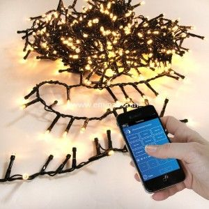 Guirlande lumineuse Bluetooth 16 m Blanc chaud 800 LED