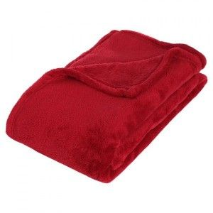 Fleece Plaid (180 cm) Tendresse Rood