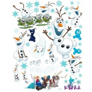 Vitrostatique Disney Olaf 2