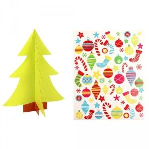 Kerstboom met stickers om te personaliseren